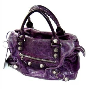 Balenciaga giant city bag purple